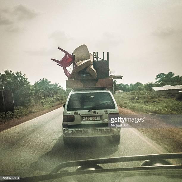 Overloaded car in Africa