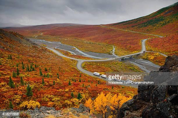 Overlook of Denali National Park in Fall Season