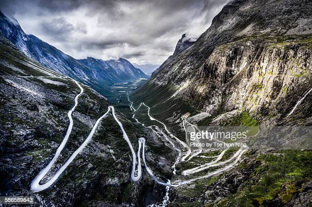 Overlook of Trollstigen, Norway