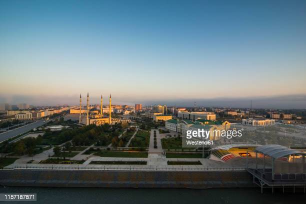 overlook over grozny , grozny, chechnya - tschetschenien stock-fotos und bilder