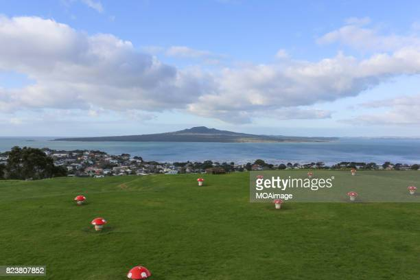 Overlook the Rangitoto Island on top of Mount Victoria,Devonport,Auckland,NewZealand