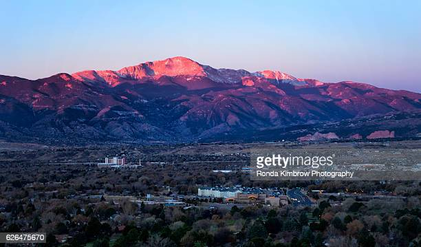 Overlook view of Colorado Springs and Pikes Peak