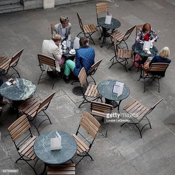 Overlooking a café in Covent Garden London England