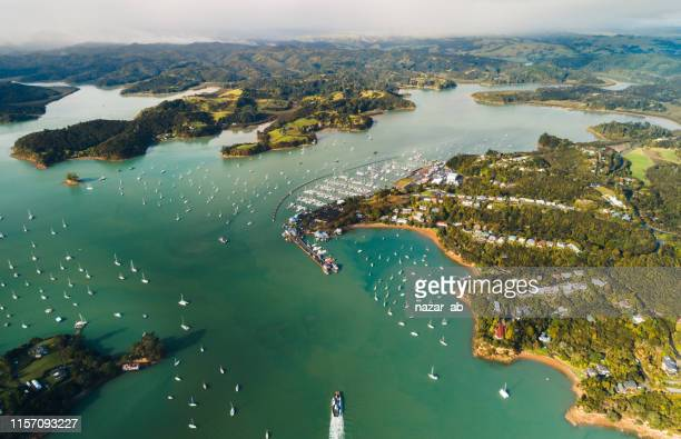 overlooking bay of islands. - northland new zealand stock pictures, royalty-free photos & images