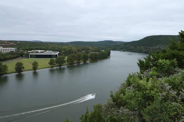 Overlooking Colorado River @ Austin360 Bridge