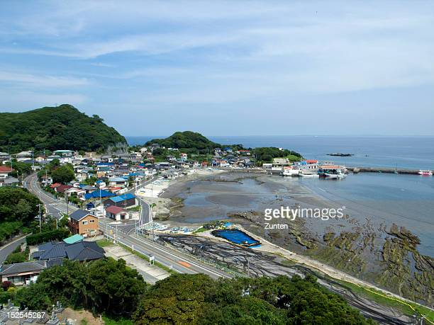overlooking fishing harbour - chiba prefecture stock pictures, royalty-free photos & images