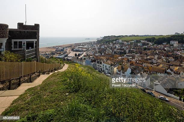 Overlooking Hastings, Kent, England