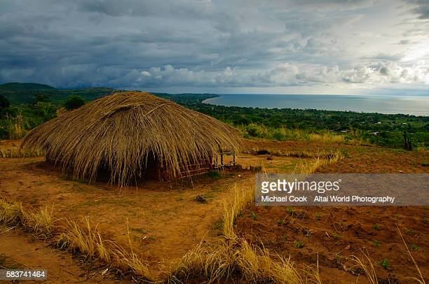 overlooking lake malawi - malawi stock pictures, royalty-free photos & images