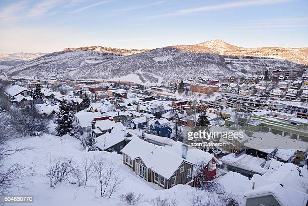 overlooking park city - park city utah stock pictures, royalty-free photos & images