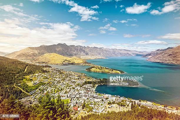 Overlooking Queenstown and lake Wakatipu
