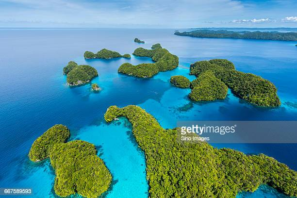 Overlooking the Aerial View of Palau Island