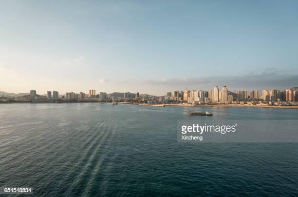 Overlooking the coastal city