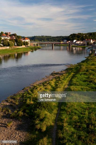 Overlooking the Elbe and Old Bridge, Meissen, Saxony, Germany