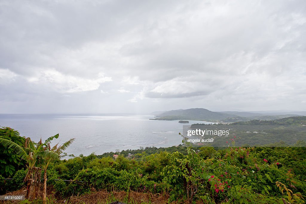 overlooking the ocean in oracabessa, jamaica : Stock Photo