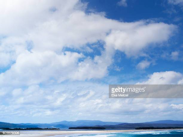overlooking the surf beach in mallacoota - mallacoota stock pictures, royalty-free photos & images