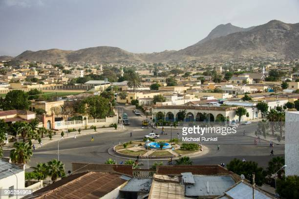 overlooking the town of keren in the highlands, keren, eritrea - eritrea stock pictures, royalty-free photos & images
