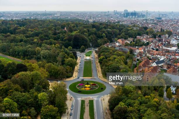 overlooking view of Brussels City