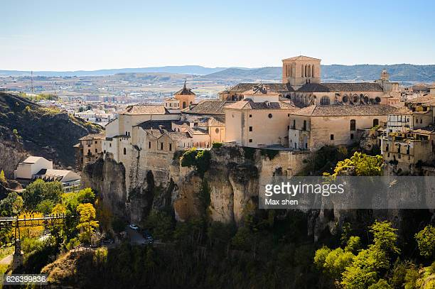 Overlooking view of the old town of Cuenca from the cliff.