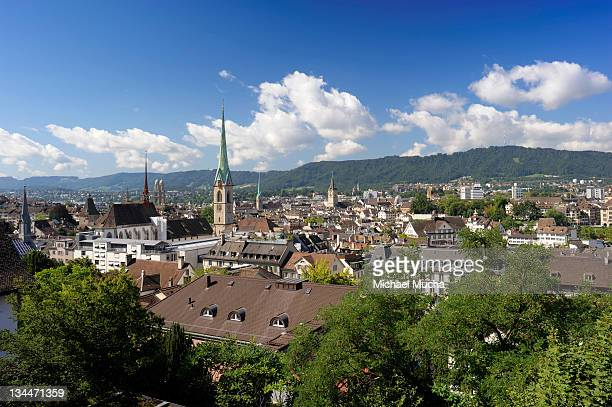 overlooking zurich, switzerland, europe - michael mucha stock-fotos und bilder