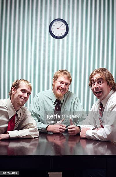 Overly Happy Businessmen