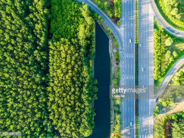 Overpass aerial view