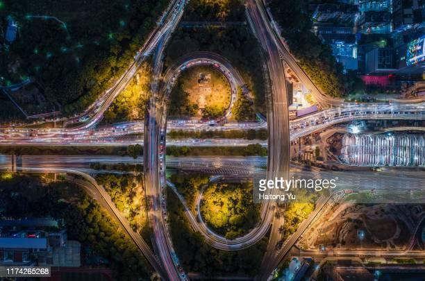 overpass in shenzhen, china. - província de guangdong - fotografias e filmes do acervo