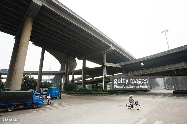 Overpasses and cyclist