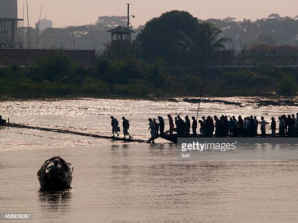 overpopulation and pollution problems in bangladesh - khulna stock photos and pictures