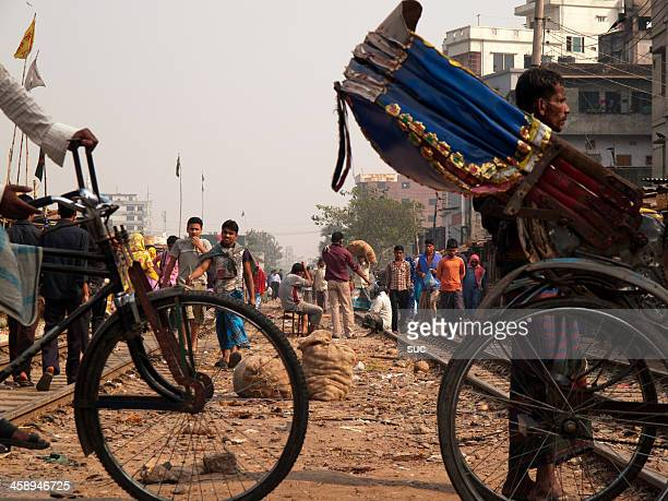 overpopulation problem in dhaka capital city of bangladesh - dhaka stock pictures, royalty-free photos & images
