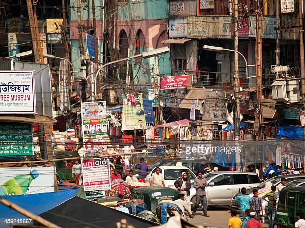 大量に問題のあるダッカは、バングラデシュの首都の街並み - バングラデシュ ストックフォトと画像
