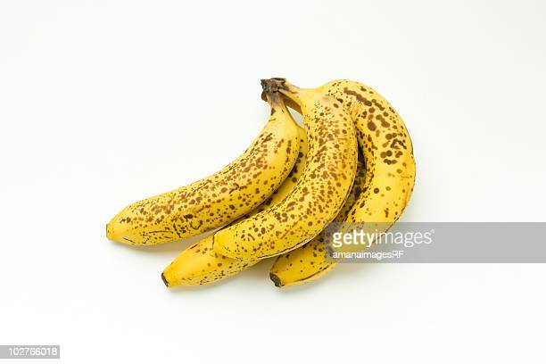 overripe bananas - bruise stock photos and pictures