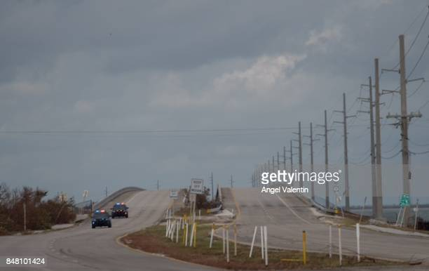 Overseas Highway only used by first responders and workers on September 16 2017 in Marathon Florida Many places in the Keys still lack water...