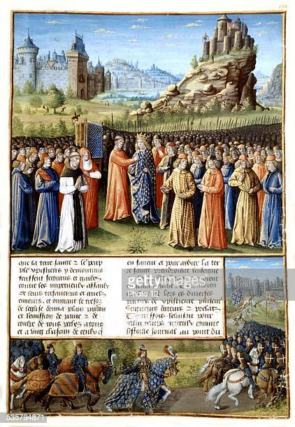 Overseas passages St Bernard preaching for the 2nd crusade and Louis VII king of France 15th century France