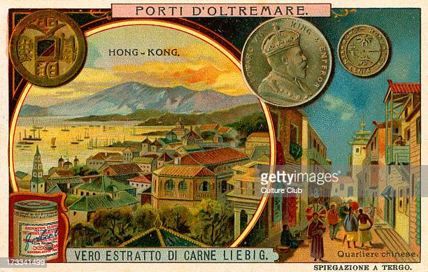 Hong Kong 1909 Chinese quarter Liebig Meat Extract collectible card