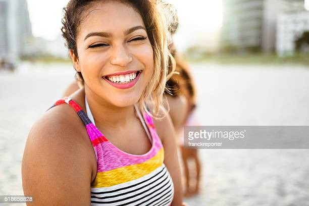 oversize woman toothy smile - large build stock photos and pictures