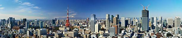 Oversized Panorama Of Central Tokyo Wall Art
