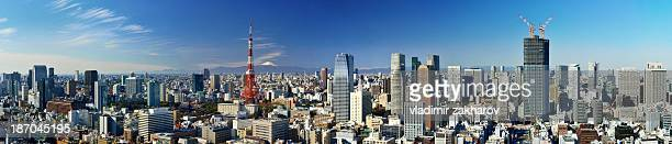 Oversized panorama of central Tokyo