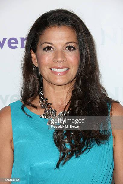 Overtone Manager/TV Personality Dina Eastwood arrives at the NBCUniversal summer press day held at The Langham Huntington Hotel and Spa on April 18...