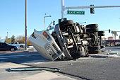 Overturned Truck