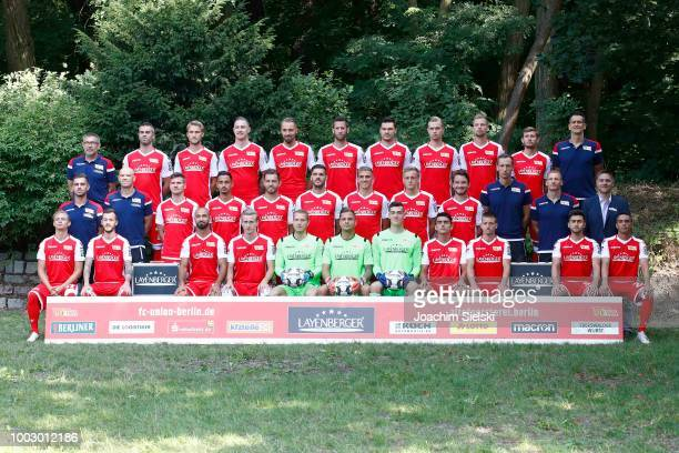 Fabian Schoenheim of 1 FC Union Berlin poses during the team presentation at Stadion An der alten Foersterei on July 21 2018 in Berlin Germany