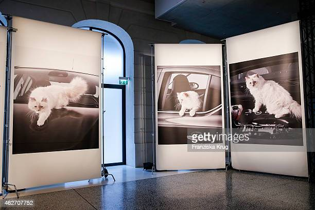 Overview about the 'Corsa Karl Und Choupette' Vernissage on February 03 2015 in Berlin Germany