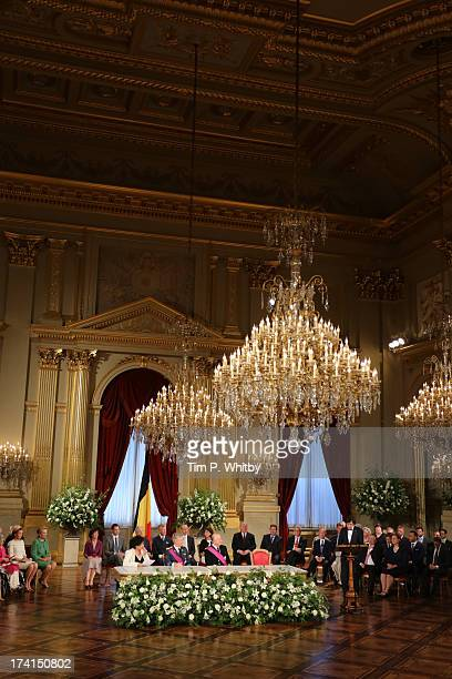Overview at the Abdication Ceremony Of King Albert II Of Belgium, & Inauguration Of King Philippe at the Royal Palace on July 21, 2013 in Brussels,...