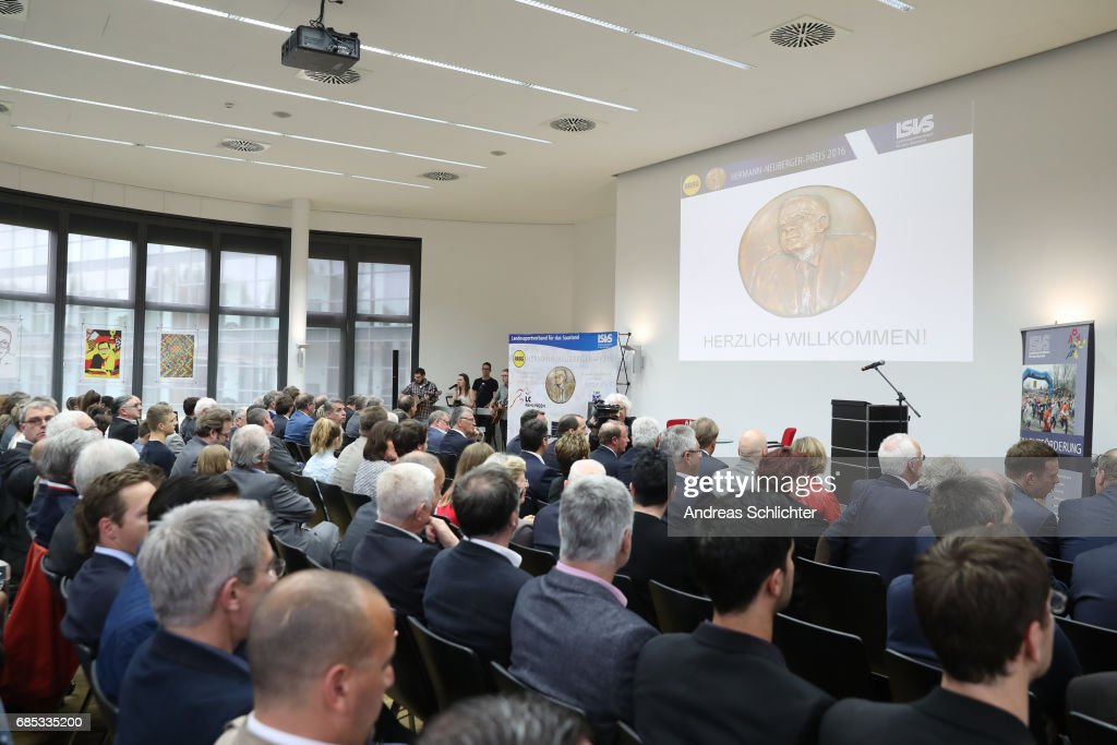 Overview during the award ceremony of Hermann-Neuberger-Award on May 19, 2017 in Saarbruecken, Germany.