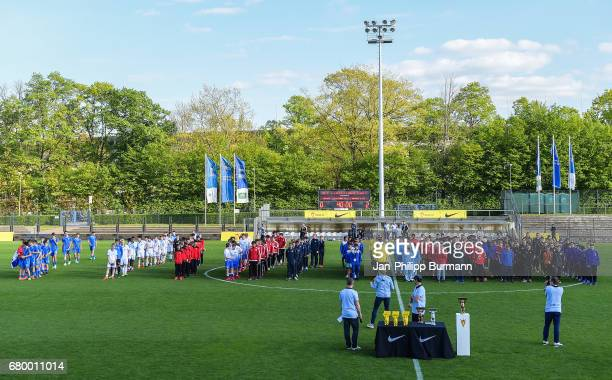 Overview during the award ceremony of the Nike Premier Cup 2017 on may 7 2017 in Berlin Germany