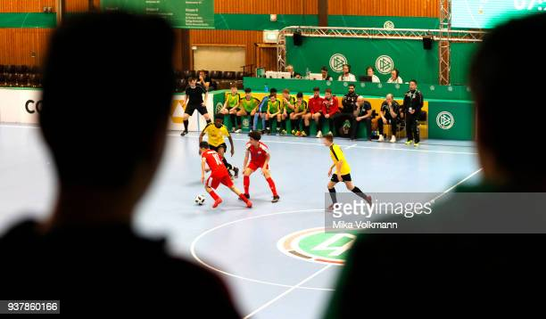 Overview during the DFB Indoor Football match between Hombrucher SV 09/72 and SC Fortuna Koeln on March 25 2018 in Gevelsberg Germany