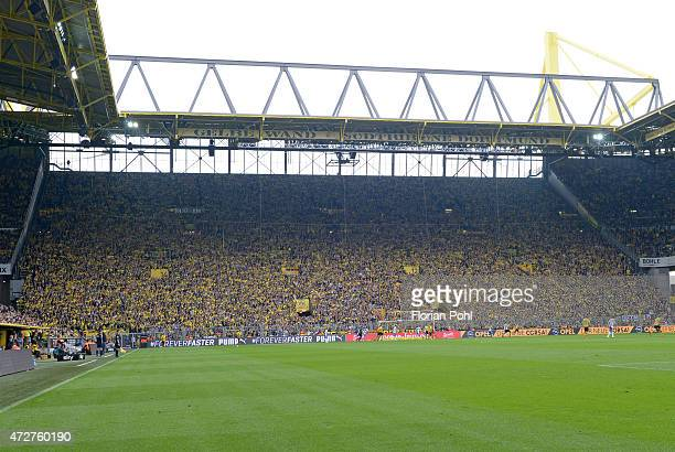Overview during the game between Borussia Dortmund and Hertha BSC on May 9 2015 in Dortmund Germany