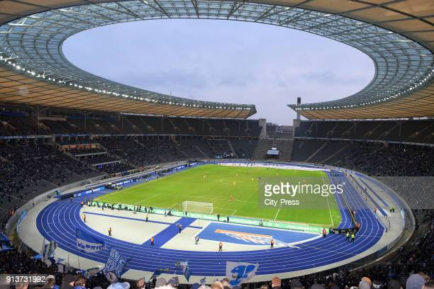 Overview during the game between Hertha BSC and TSG Hoffenheim on february 3 2018 in Berlin Germany