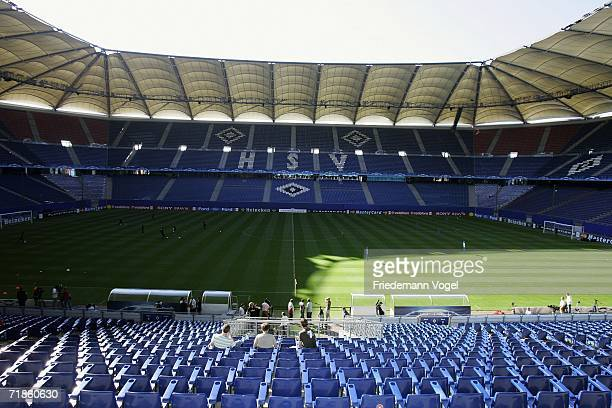 Overview during the Hamburger SV training session at the AOL Arena on September 12 2006 in Hamburg Germany Hamburger SV will face Arsenal in the UEFA...