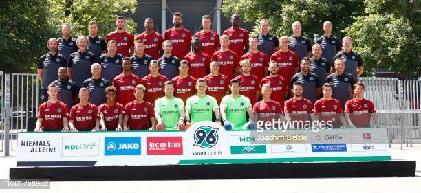 Coach Andre Breitenreiter of Hannover 96 poses during the team presentation at HDIArena on July 19 2018 in Hanover Germany