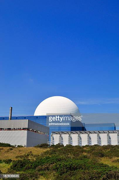 overview from a distance of nuclear reactor - nuclear power station stock pictures, royalty-free photos & images